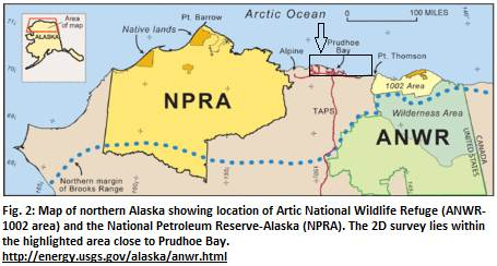 Fig. 2 Map of ANWR and NPRA